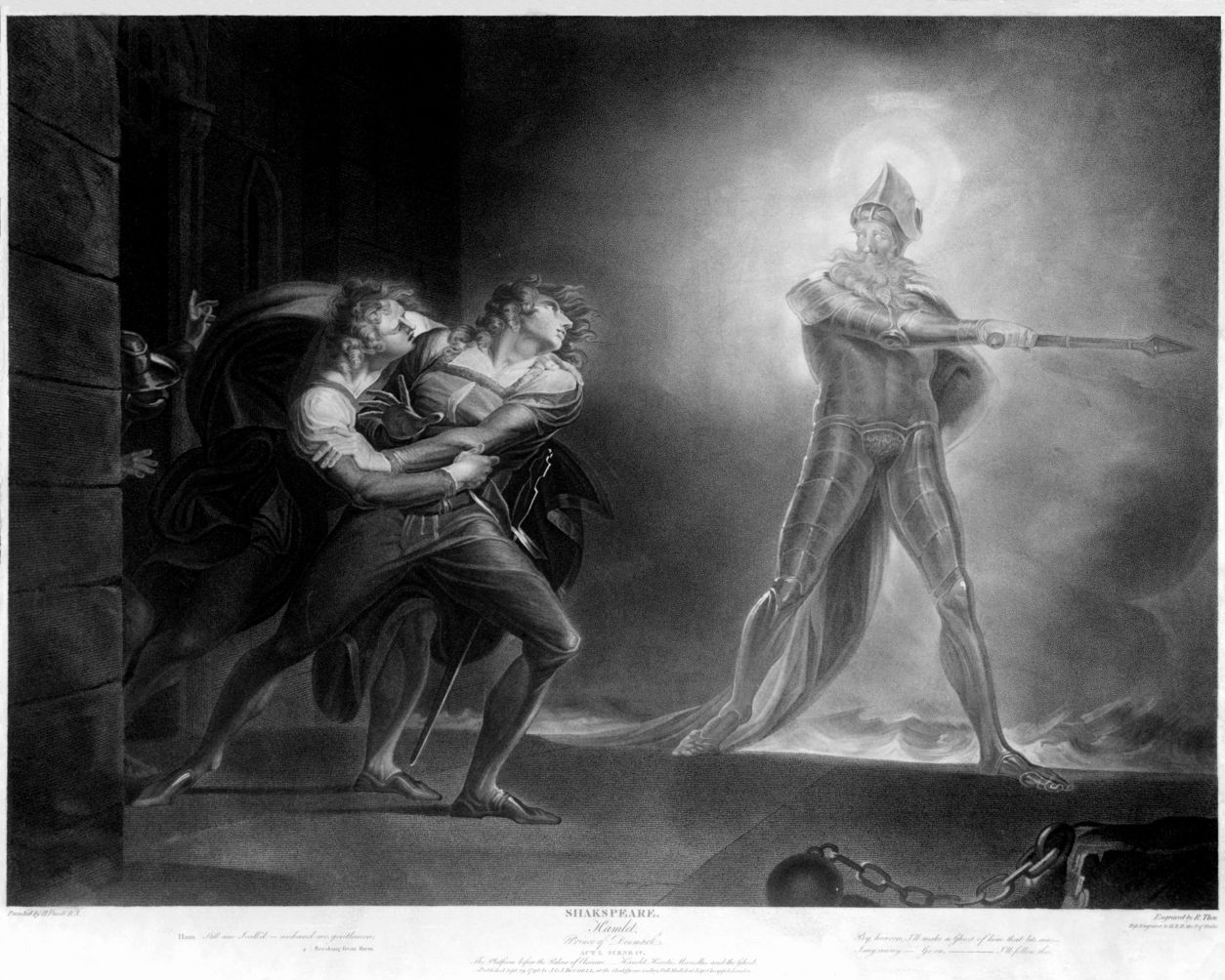the evil intentions of the ghost in hamlet a play by william shakespeare